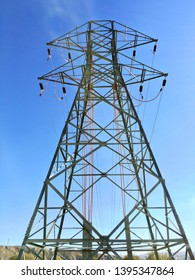 Electricty pylon carriers the power to human