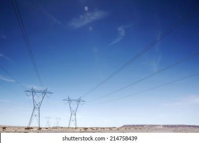 Electricty pylons USA