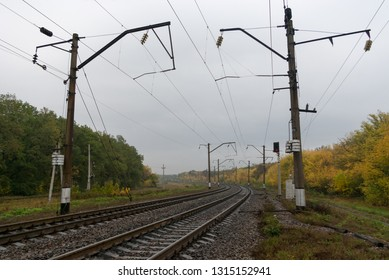 Electrified railway line in Russia