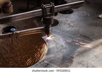Electrochemical machining. The process of cutting metal of great thickness.
