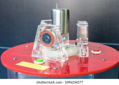 Electrochemistry machine. Science and educational concept