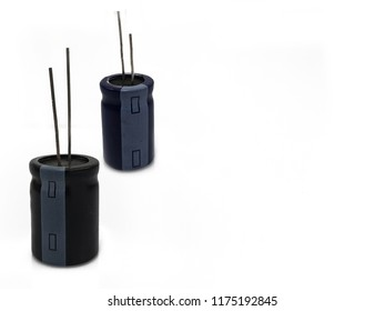 electrolytic capacitor  on white background