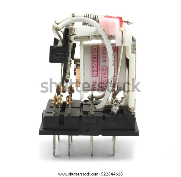 Electromagnetic Relay Without Protection Cap Stock Photo