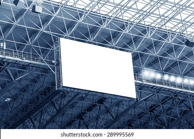 Electronic billboard display at stadium. Isolated for your text or image.