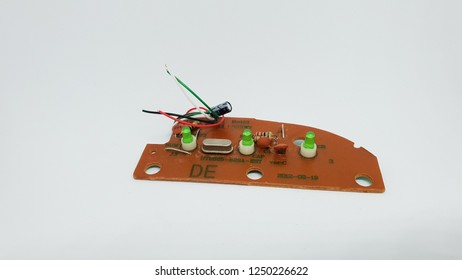 electronic board piece isolated on white background