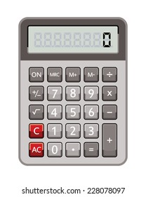 electronic calculator isolated on white background