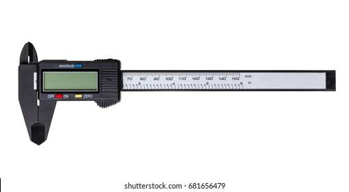 Electronic caliper isolated on white background