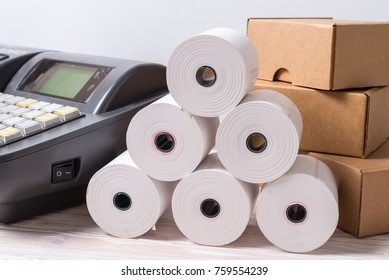Electronic Cash Register and lot of paper roll