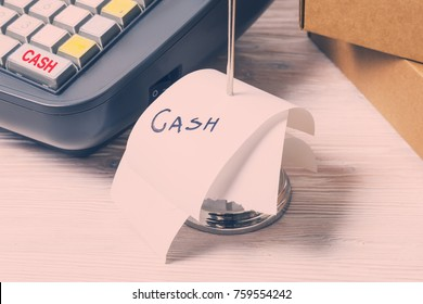 Electronic Cash Register and cash receipt