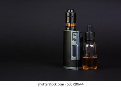 Electronic Cigarette on a black background.