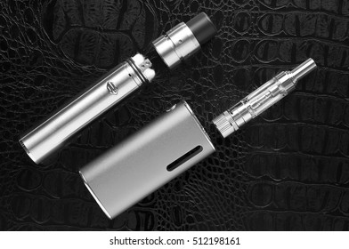 Electronic Cigarette on a black background.Vape.