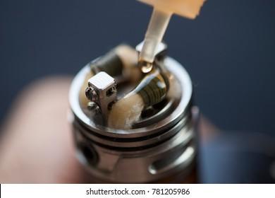 electronic cigarette and smoke