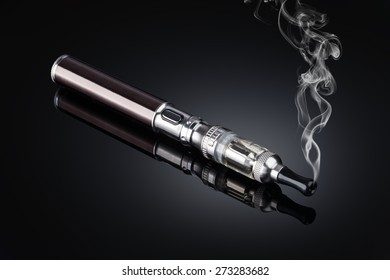 electronic cigarettes isolated on black