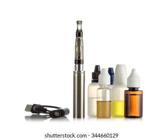 Electronic cigarettes isolated on white