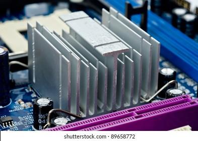 Electronic circuit abstract. Macro photo