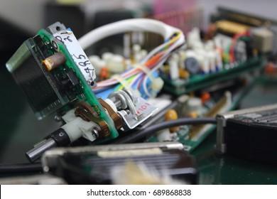Electronic circuit ,AVIONICS equipment in aircraft with maintenance ,AVIONICS System.
