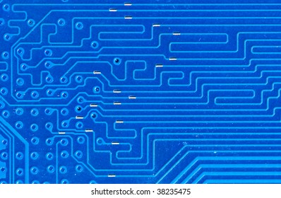 electronic circuit board as an abstract background