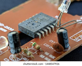 Electronic circuit board, Resistor, used for wallpaper, used as illustrated book, macro shot