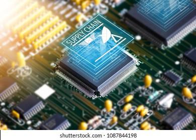 Electronic circuit board , Setup IC Supply chain
