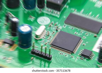 electronic circuit board zoom motion blur