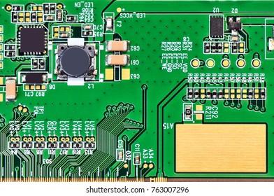 Electronic circuit board.Macro.