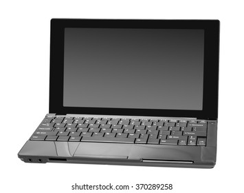 Electronic collection - Modern open laptop (netbook) computer isolated on white background