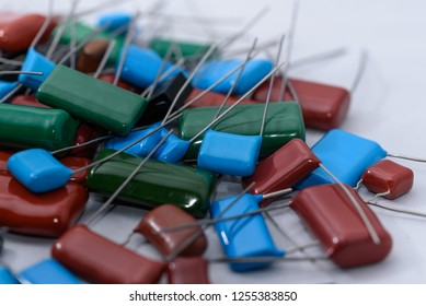 Electronic components, Lots of colorful film capacitors
