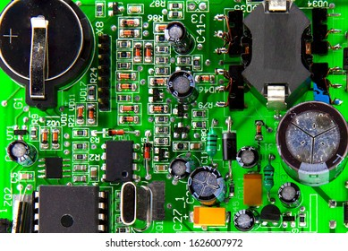 Electronic components on the board