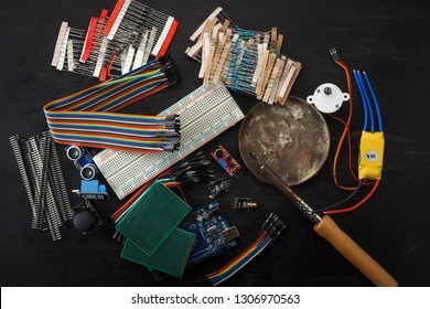Electronic components and sensors for arduino
