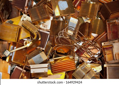 Electronic computer parts separated for copper recycling