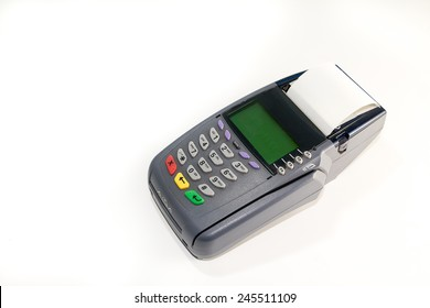 Electronic Data Capture / Chip Terminal on white background
