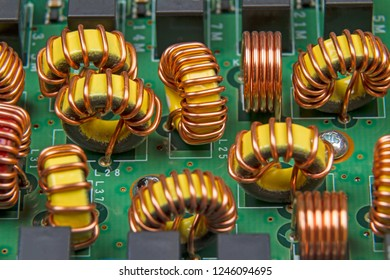 An electronic device with band-pass filter is ferrite rings. Technological background