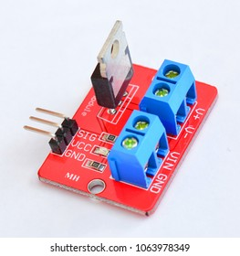 The electronic device MOSFET transistor module is used in Arduino projects.