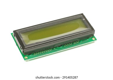 Electronic embedded system component liquid crystal display LCD isolated on the white background