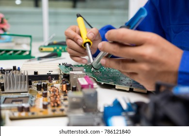 Electronic engineer of computer technology. Maintenance computer cpu hardware.