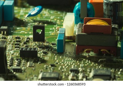 Electronic engineering, microchip and integrated electronic components. microelectronics and engineering.