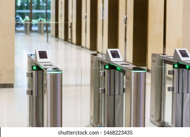 Electronic Entrance gate card Access Building Security system.