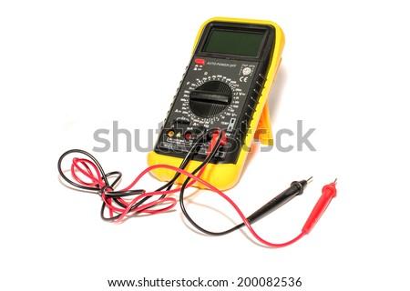 electronic galvanometer isolate on white background stock photoelectronic galvanometer isolate on white background