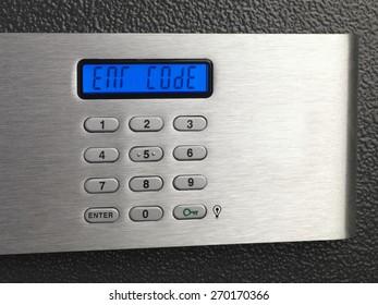 Electronic home safe keypad