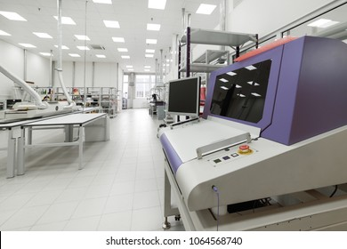 Electronic industry. Shop production of printed circuit boards.