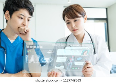 Electronic medical record (EMR) concept.