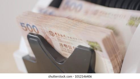 Electronic money counter machine, counting Hong Kong dollar