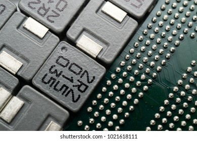 Electronic parts of SMD Inductor and BGA IC