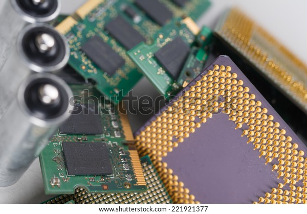 Electronic recycling concept background