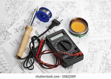 electronic schematic diagram ideal technology background stock photoan electronic schematic diagram ideal technology background