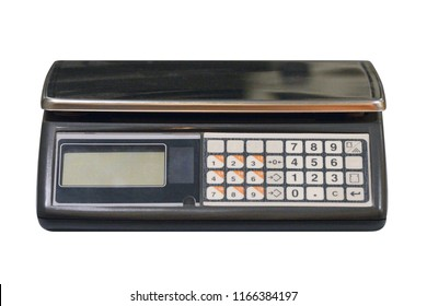 electronic store scales isolated on a white background