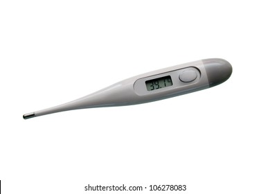 Electronic thermometer with high temperature on display