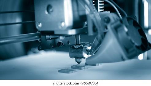 Electronic three dimensional plastic printer during work , 3D printer, 3D printing