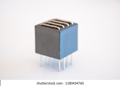 Electronic transformer isolated on white background