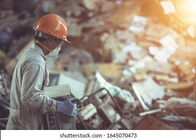 Electronic waste management of worker in the uniform